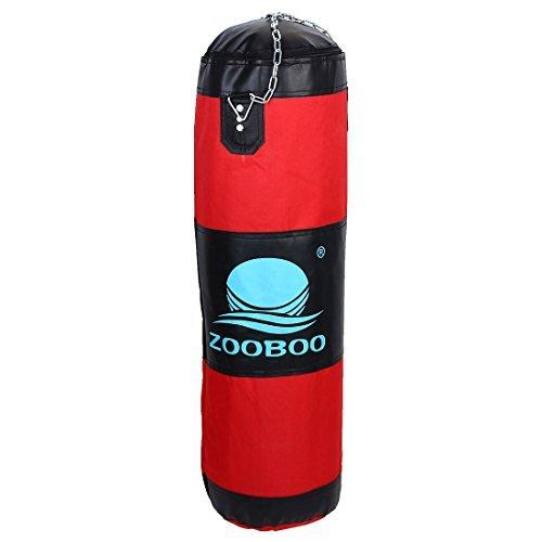 eDealMax ZOOBOO autorizado de entrenamiento de boxeo Kickboxing ejercicio pesado Bolsa de Formacin de perforacin vaco 80cm Altura Red w Cadena giratoria