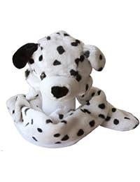 Plush Animal Hat w/ Built-In Mittens (Dalmatian)