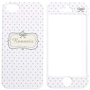 HC- Carcasa Desmontable Dura de Diseño Romántico, de Cuerpo Completo para el iPhone 5