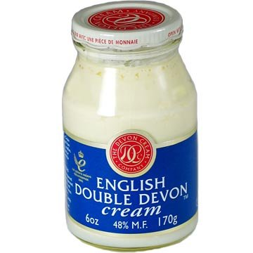 Manor Cream (English Double Devon Cream - pack of 3 - 6 Ounce Jars)
