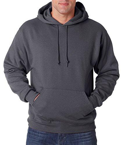 (Jerzees 8 oz., 50/50 NuBlend Fleece Pullover Hood (996)- CHARCOAL GREY,2XL)
