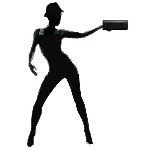 CASPAR Evening Black Shiny TA278 Clutch Women Satin aqTrxa1