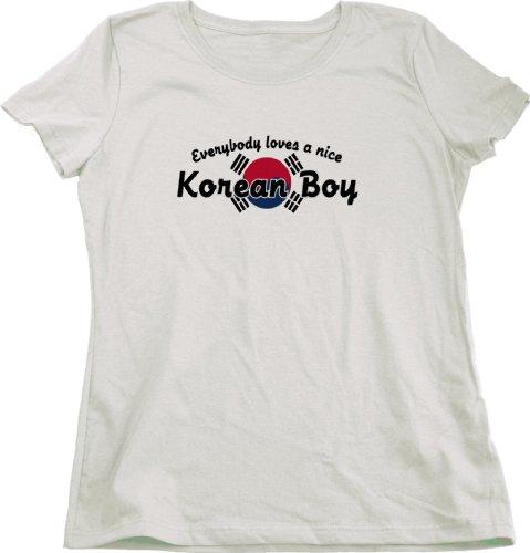 Everyone Loves a NiceKorean Boy   Korea Ladies Cut T-shirt Cute Korean T-shirt