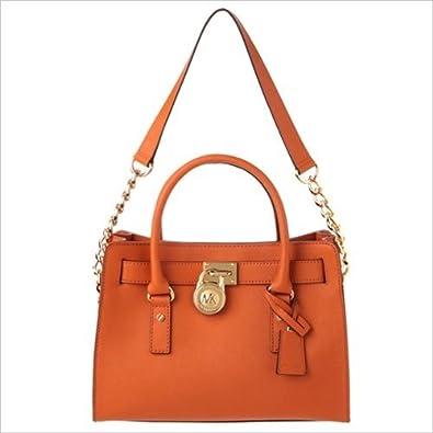 eac51b2a5599 Michael Kors Hamilton Burnt Orange Satchel Bag - 30S2GHMS3L: Amazon.co.uk:  Shoes & Bags