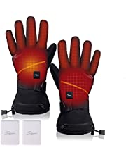 Heated Gloves for Men Women,Electric Heated Winter Gloves Rechargeable Battery Heated Gloves for Raynaud's and Arthritis