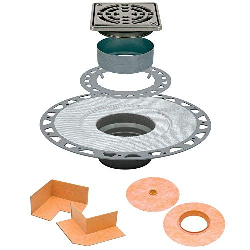 Schluter Kerdi Drain Stainless PVC Version (Shower Kit Grid Drain)