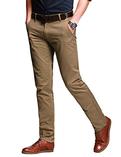 Fit Match - Match Men's Fit Tapered Stretchy Casual Pants (32W x 31L, 8103 Khaki)