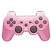 podofo Bluetooth Wireless Game Controller Gamepad for PS3 PlayStation 3 (Pink)