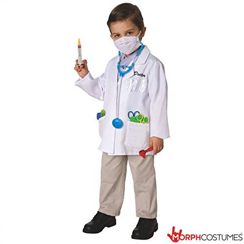 [Toy Island Boys Child Doctor Costume, Size 8-10] (9 Doctor Costume)