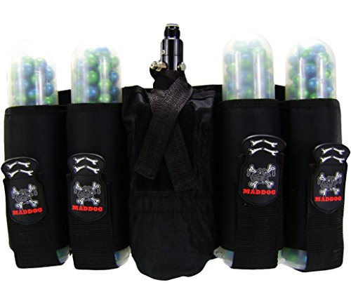 MAddog 4+1 Vertical Paintball (4 Pod Paintball Harness)