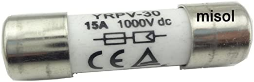 MISOL 10 units of PV solar fuse 15a 1000VDC fusible 10x38 gPV//fusible solaire