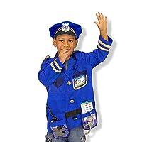 """Conjunto de vestuario de juego de rol para oficiales de policía de Melissa y Doug (juego de imaginación, materiales, lavable a máquina, 17.5 """"de alto x 24"""" de ancho x 0.75 """"de largo)"""
