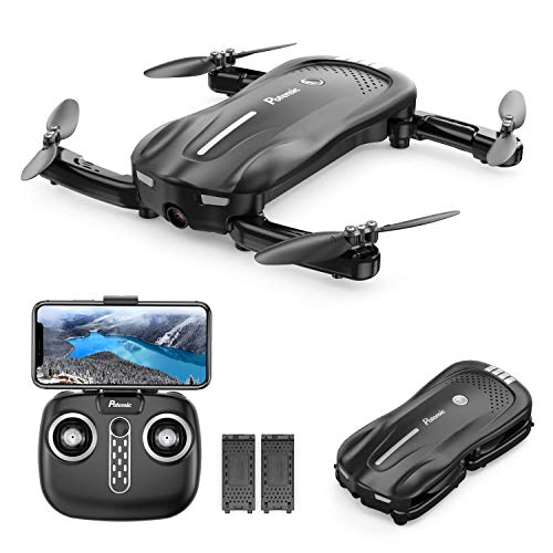 Potensic Mini Drone With Camera For Kids & Adults Beginner, Foldable FPV Quadcopter with Gravity Sensor/Gesture Control…