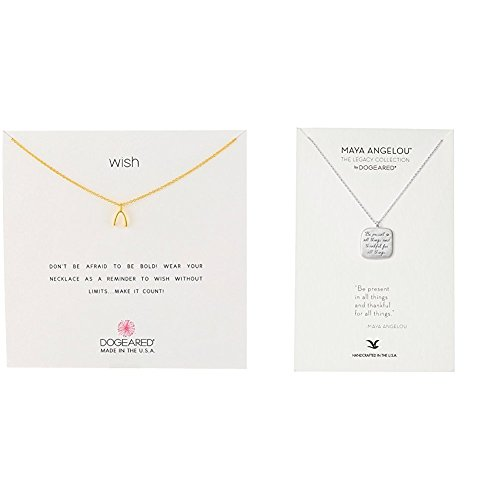 Dogeared Reminders- Wish Gold Dipped Sterling Silver Wishbone Charm Necklace, 16