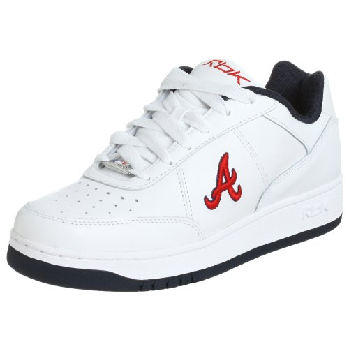 (Reebok Men's MLB Braves Clubhouse Lining Sneaker,White/Navy/Red,11.5 M)