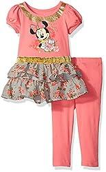 Disney Girls' Minnie Tunic with Legging, Orange, 12m