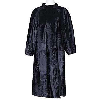 Costa Black Fur Babydoll Coat For Women