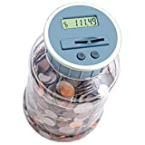 M&R Digital Counting Coin Bank. Batteries Included! Personal Coin Counter/Money Counting jar, totals