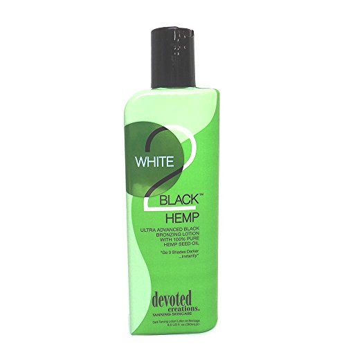 Devoted Creations White 2 Black Hemp Tanning Lotion - 8.5 oz