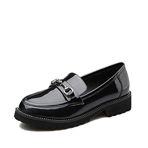 Colegio primavera viento zapatos/tacones de gatita/ocio zapatos de luz B
