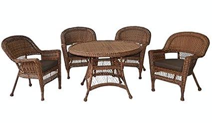 Amazon.com: Cojines de silla de mimbre de resina, 5-Piece ...
