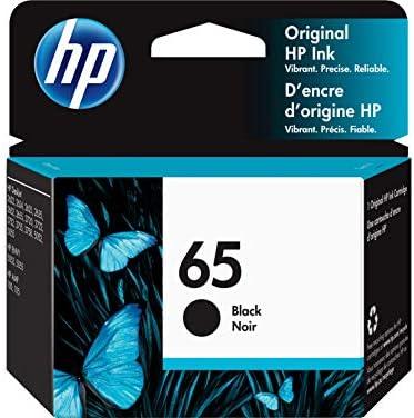 HP 65 | Ink Cartridge | Works with HP Deskjet 2600 Series, 3700 Series, HP ENVY 5000 Series, HP AMP 100, 120, 125, 130 | Black | N9K02AN