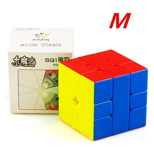 CuberSpeed Yuxin Little Magic Square 1 M Speed Cube Yuxin Square one Magnetic Stickerless Magic Cube