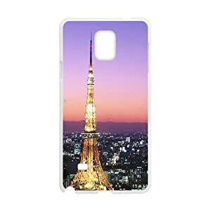 Bright City Night Tower White Phone Case for Samsung Galaxy Note4