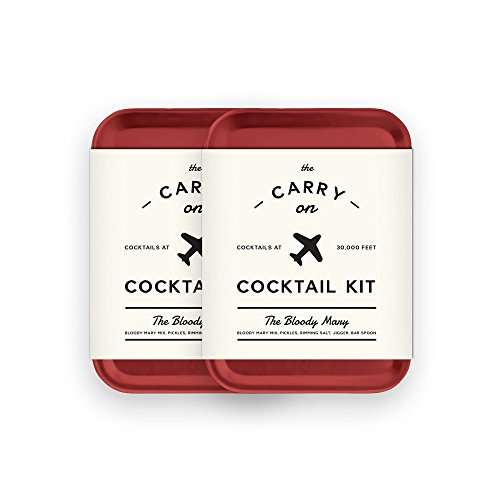 W&P MAS-CARRY-BM-2 Carry on Cocktail Kit, Bloody Mary, Travel Kit for Drinks on the Go, Craft Cocktails, TSA Approved