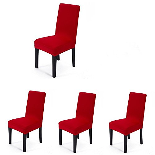 4 pieces Spandex Stretch Washable Dining Room Chair