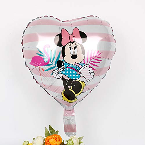 HOMES1 Birthday Decorations- Birthday Decorations- Minnie Mouse Happy Birthday Party Decorations Kids foil Balloons Baby Shower Girls boy Toys Unicorn Party globos 18S03601 Pink
