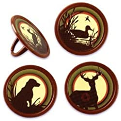 Hunting Cupcake Rings - 24 pc
