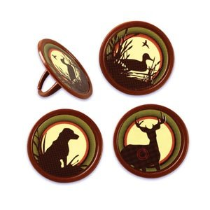 Hunting Cupcake Rings 24 pc product image