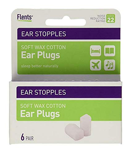 - Flents Ear Stopples Wax-Cotton Ear Plugs 6 Pairs (Pack of 4)
