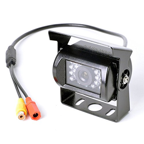 Cheap KASIONVI Rear View Backup Camera for Car Truck Lorry Pickup Bus Vehicle Caravans- Waterproof, Night Vision DC 9V – 35V Wide Voltage