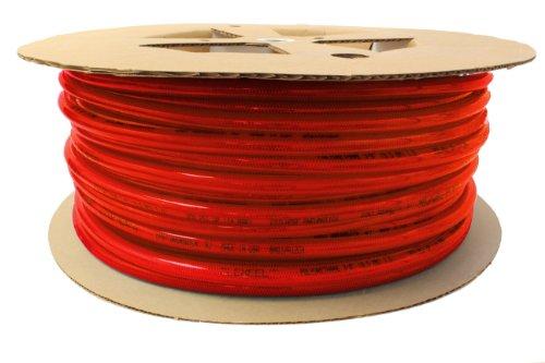 Coilhose Pneumatics PFE6200TR Flexeel Reinforced Polyurethane Air Hose, 3/8-Inch ID, 200-Foot Length, No Fittings, Transparent Red ()