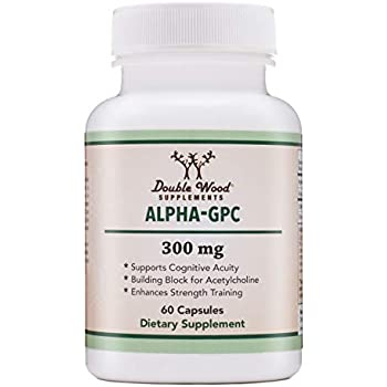 Alpha GPC Choline Supplement (Beginner Nootropic for Brain Support, Focus, Memory, Motivation, and Energy) Pharmaceutical Grade, Made in USA (60 Capsules 300mg)