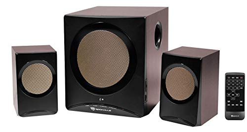 Rockville Rock Media Home Computer Speakers Subwoofer Bluetooth USB SD FM Remote
