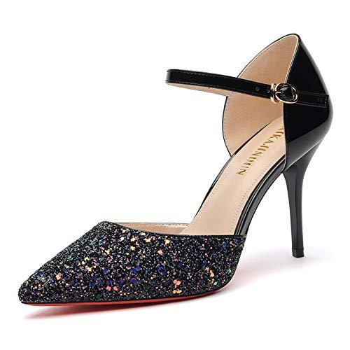 PINGXIANNV High Heels Der Frauen Einzelne Schuhe Wies Stiletto Damenschuhe Mode Freizeitschuhe