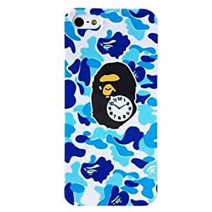 Zaki- Punk Monkey Camouflage Pattern Plastic Hard Case for iPhone 4/4S