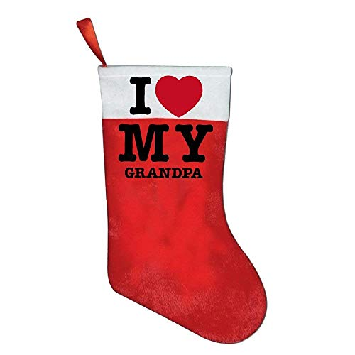 coconice I Love My Grandpa Personalized Christmas Stocking by coconice