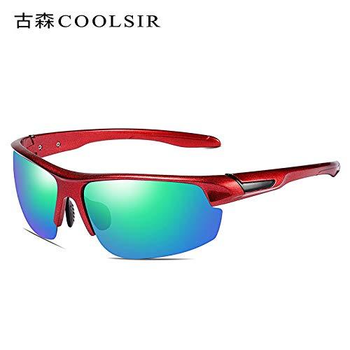 nbsp; Sol de de Espejo Gafas Gafas nbsp;Deportivas de polarizadas Gafas Hombre polarizadas Mjia Sol Coloridas Caja Negra Gafas sunglasses Red 1 Deportivas frame n6wzPzqY4