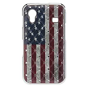 SUMCOM US Flag Pattern Hard Case with Rhinestone for Samsung Galaxy Ace S5830