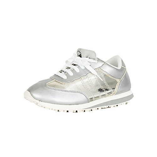 Formadores / zapatillas de deporte con ver a través de paneles Silver