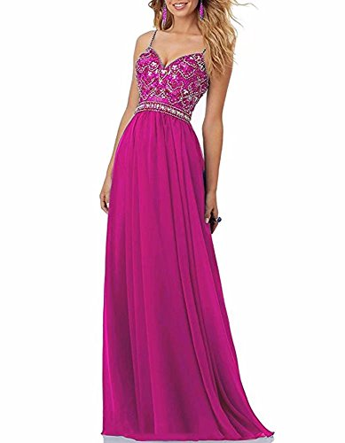 FNKS CRAFT Sweetheart Neckline,Luxury Handmade Beaded Bodice,Criss-Cross Straps Back,Zipper Closure Fuchsia US6 (Cross Bodice Criss Sweetheart)