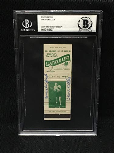 Chet O'Kelley Autographed Signed Matchbook Cover Beckett Authentic Slabbed