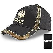 Ruger Logo CAMO TRIM Firearms American Adjustable Hat Cap + Coolie