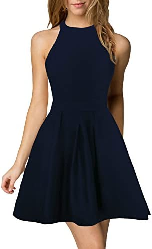 Berydress Womens Halter Backless Cocktail product image