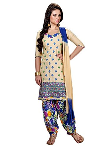 Vibes Women's Semi Loan Unstitched Dress Materials (V307-101_Yellow Colour)