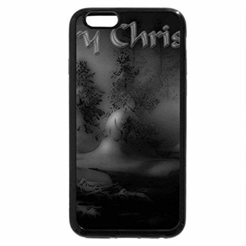 iPhone 6S Plus Case, iPhone 6 Plus Case (Black & White) - Christmas Greetings